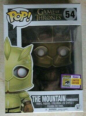 Funko Sdcc 2018 Game Of Thrones The Mountain Armoured Pop 54 Official Sticker