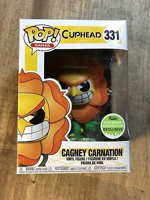 Funko Pop! Games Cuphead CAGNEY CARNATION Emerald City Exclusive ECCC In Hand