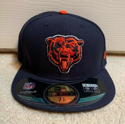 separation shoes 20e62 c2d2f Chicago Bears New Era Fitted Hat 7 5 8 Nfl On Field Sideline Cap 59Fifty