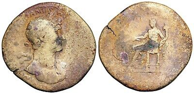 Hadrian [A.D. 117- 138] sestertius with Fortuna reverse from Rome