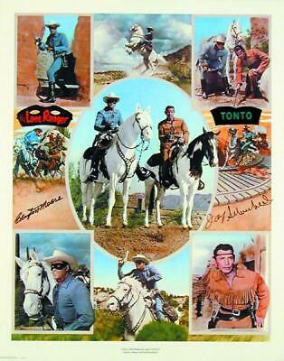 Lone Ranger Tv Cast - Autographed Signed Poster With Co-Signers