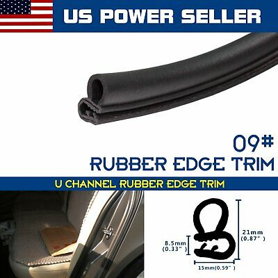 Rubber Seal Trim Weatherstrip Bulb Car RV Truck Door Lok Protect Edge Black 10ft