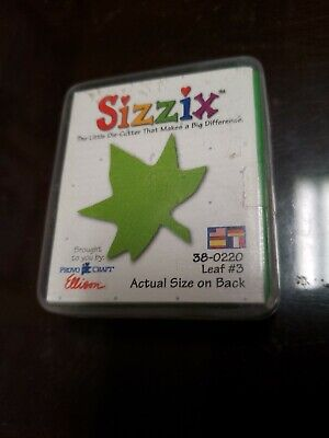 """Retired Sizzix Originals Small Green Die """"Leaf  #3 """"  38-0220   Used"""