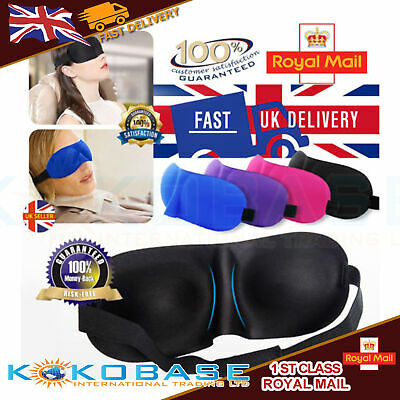 3D Eye Mask Soft Sponge Padded Travel Sleeping Blindfold Sleep Aid