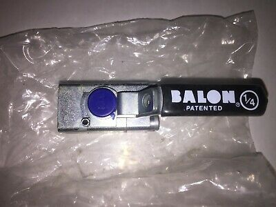 "Balon LM-02362 Ball Valve 1/4"" 3000 WP SS w/Lockout"