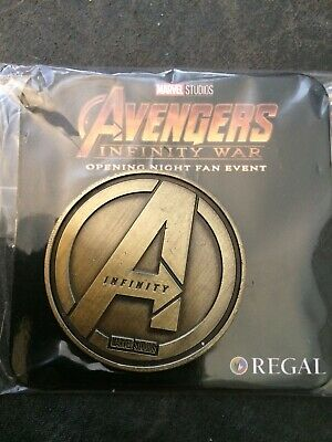 Avengers Infinity War Opening Night Fan Event Marvel Collectible Coin
