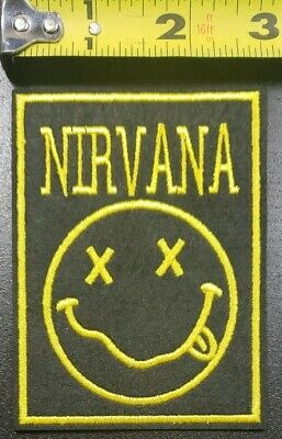 """Nirvana~3.75"""" Embroidered/Felt Iron/Sew Patch~FREE SHIPPING FROM THE U.S.~"""