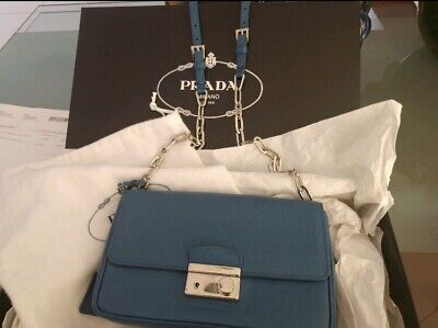 ff5cab649305 Prada Crossbody Purse Handbag Cobalt Blue Saffiano Soft Leather Gorgeous!