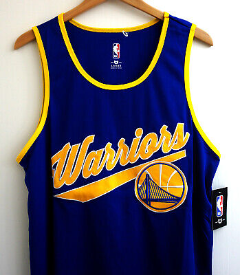 785ba484f2383 Rare Golden State Warriors NBA Throwback Script Jersey Stitched Large New  NWT