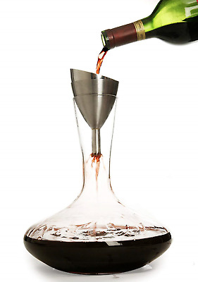 Rabbit Wine Aerator Shower Funnel with Sediment Strainer New in Box Free Ship