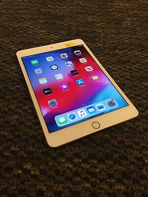 Apple iPad mini 4 128GB, Wi-Fi + Cellular (Verizon - Unlocked )7.9in - Gold