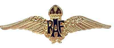 Mod Approuvé Royal Air Force Raf or Brillant Sweetheart Ailes Badge Broche