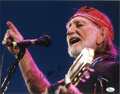 Willie Nelson Photo Signed 11x14 Photo JSA COA Autographed Country Legend 1
