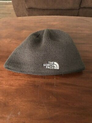 Unisex The North Face TNF Gray Beanie Cap Cable Knit Winter Hat One Size