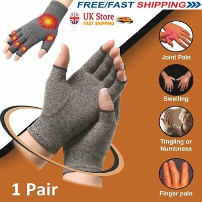 Arthritis Gloves Compression Joint Finger Pain Relief Hand Wrist Support dq