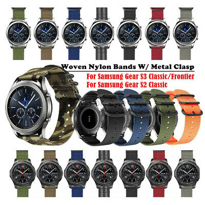 Woven Nylon Canvas Sport Watch Band Strap For Samsung Gear S3 Classic Frontier