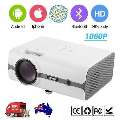 Android 7000 Lumens LED Home Theatre Projector Multimedia USB HDMI HD 1080P AU