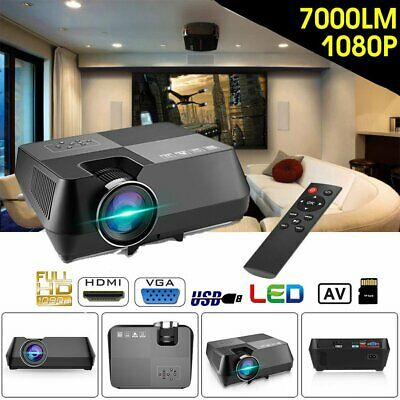 7000lumens LCD Movie Projector 1080P 4K HD Projection Home Theatre Multimedia AU
