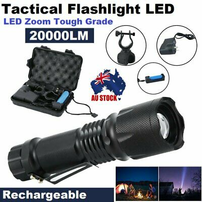20000LM L2 Flashlight LED Zoom Tactical Military Torch Telescopic Lamp Night Kit