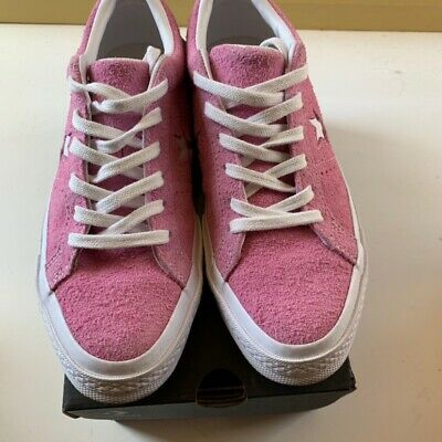 New Converse Women One Star Pink Suede Almost New