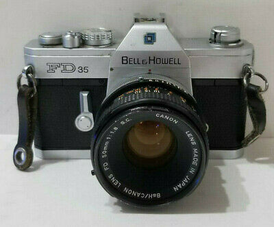 Bell & Howell FD35 Film Camera w B&H.Canon FD 50mm F1.8 S.C. Lens
