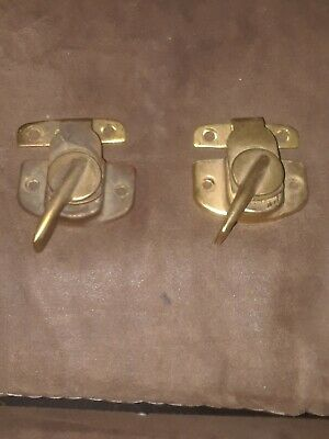 2 Vintage brass plated Amerock Window Sash Locks