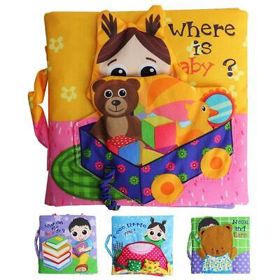 3D Baby Cloth Book Educational Interactive Learning Development Cloth Book HY