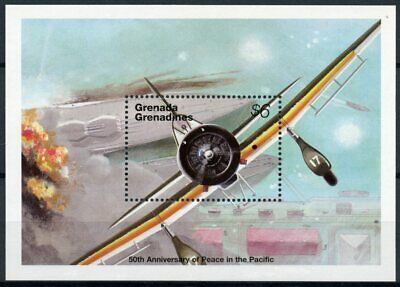 Grenadines Grenada 1995 MNH WWII WW2 VJ Day Peace Pacific 1v S/S Aviation Stamps