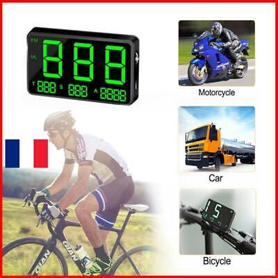 Car Digital GPS KM/h Motorcycle Bike C80 Speed Display Speedometer Car MPH RVA7