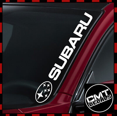 Subaru Windscreen Decal Car Sticker Rally 4WD Off-road Import 17 Colours 550mm