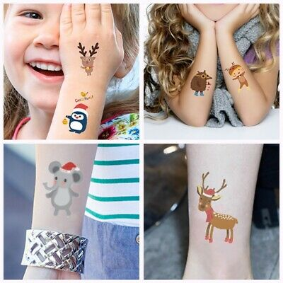 3bb50d98b Temporary Christmas Tattoo Body Art Sticker Kids Body Paste Paper Festival  Gift