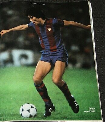 football poster Carrasco winner cup winners cup with Barcelona team 1979