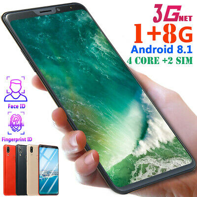 "Face ID 6.1"" Android 8.1 Mobile Phone HD 1G+8GB 4 Core 2 SIM Unlocked Smartphone"