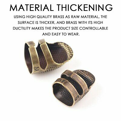 Vintage Finger Protector Needle Thimble Antique Ring Metal Stitching Tools S 1W
