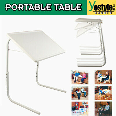 Potable Table Adjustable Tray Foldable Laptop Desk Dinner TV Bed Mate Office