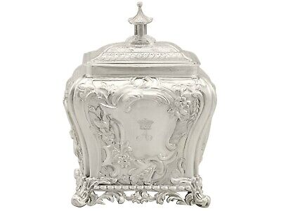 Antique Sterling Silver Tea Caddy Sheffield 1830s 340g Height 15cm
