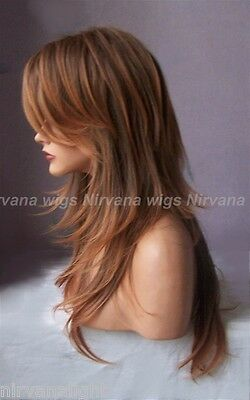 NEW!!! Multi Tones Auburn Extra Long Layered Joanne Wig