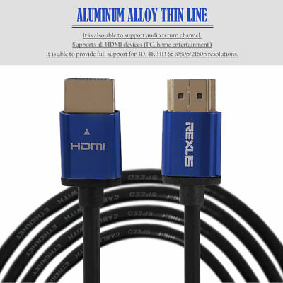 1M/3M/5M/10M Super Long Aluminum Alloy HDMI Cable Male To Male HDMI Cable t8