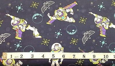 Buzz Light year Fabric Toy Story 100% cotton fat quarters Genuine Disney