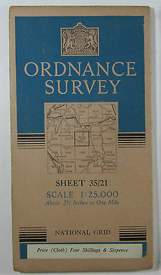1947 old OS Ordnance Survey 1:25000 First Series Prov map NY 21 Borrowdale 35/21
