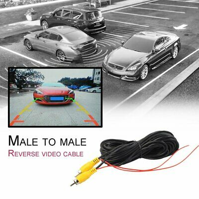 RCA To RCA Male To Male AUX Audio Cable Video AV Cord For Car Rearview Camera GC