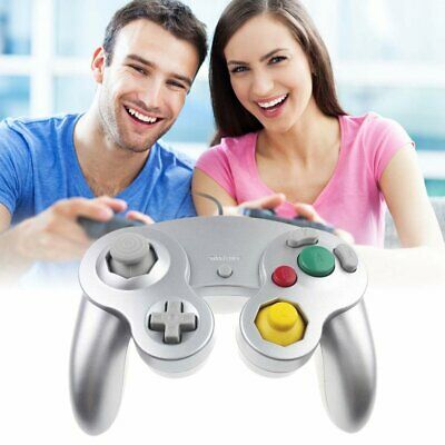 2 pcs Wired Dual Shock GameCube Controller For Nintendo Wii GC NGC Gamepad OZ