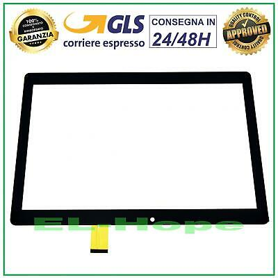 Touch Screen Vetro Majestic Tab 711 4G 10.1 Tablet Digitizer Originale Nero