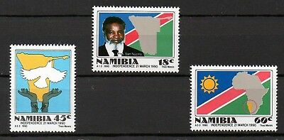 Namibia 1990 Independence MNH set S.G. 538-540