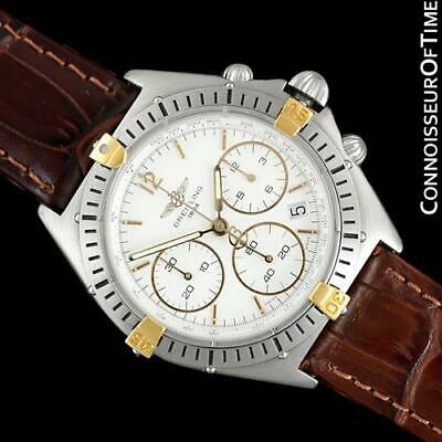 Breitling Windrider Chrono Sextant Mens SS Steel & 18K Gold Watch B55045 - Minty