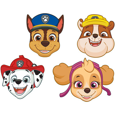 Paw Patrol Paper Masks Chase Rubble Marshall Skye Pups Party Bag Favour Fillers