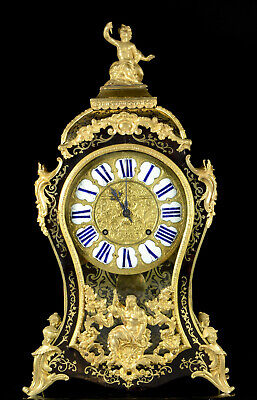 Rare large early 18 c. Boulle clock by Jacques Langois 72 cm mounts restored