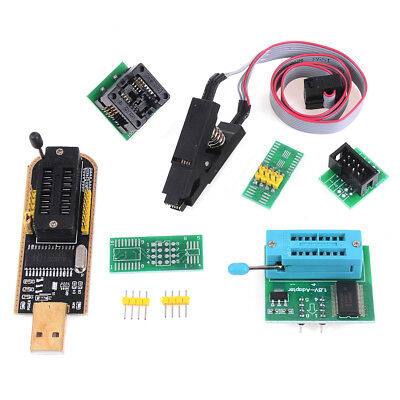 EEPROM BIOS usb programmer CH341A + SOIC8 clip + 1.8V adapter + SOIC8 adapter CR