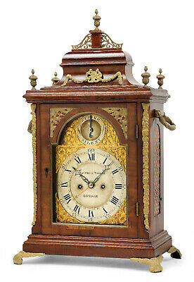 Large George III bracket clock Graviell & Tolkien repetition calendar 1795