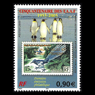TAAF 2005 - 50th Anniversary of the First Stamp Issue of FSAT - Sc 360 MNH